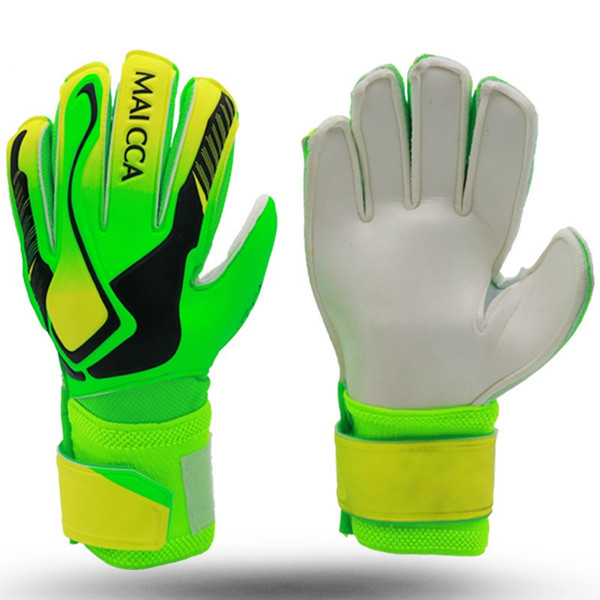 best selling Goalkeeper Goalie Gloves Adult Kids Soccer Football Goalkeeper Goalie Gloves with Double Wrist Protection and Non-Slip Wear Resistant Latex