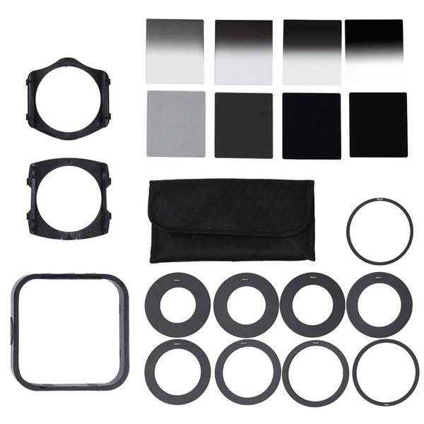best selling Universal Neutral Density ND2 4 8 16 Filter with 49-82mm Adaptor Ring for Cokin P Set SLR DSLR Camera Lens Photo