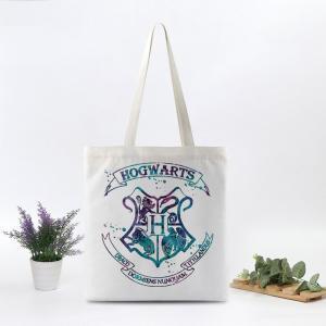 Harry potter cavans saco de compras bolsa de ombro criativo ambiental impresso bolsa de negócios crianças estudante saco de escola FFA1448