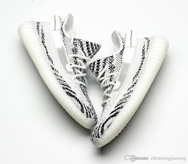 Hottest 350s V2 Hommes Chaussures Zèbre Noir Statique Hommes Chaussures De Course GID Lueur Dans Le Noir Kanye West Pour Femmes Sport Designer Sneakers Nous