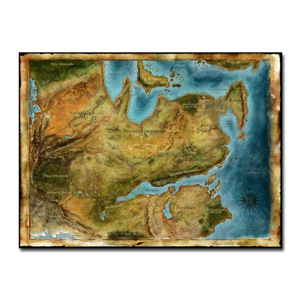 Thedas Map Dragon Age Games Art Silk Poster 24x36inch 24x43inch Wall  Stickers Vinyl Wall Stickers Wall Graphics From Wangzhi_hao8, $12.05   DHgate.Com