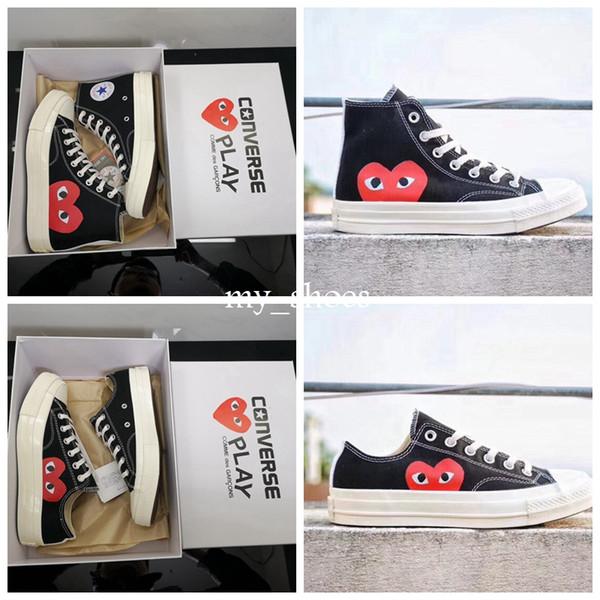 All Stars Shoes 2019 Neue CDG Canvas Big Eyes Hearts Marke Beige Schwarz Weiß Designer Klassisch Casual Laufschuh Athletic Sneakers 35-44
