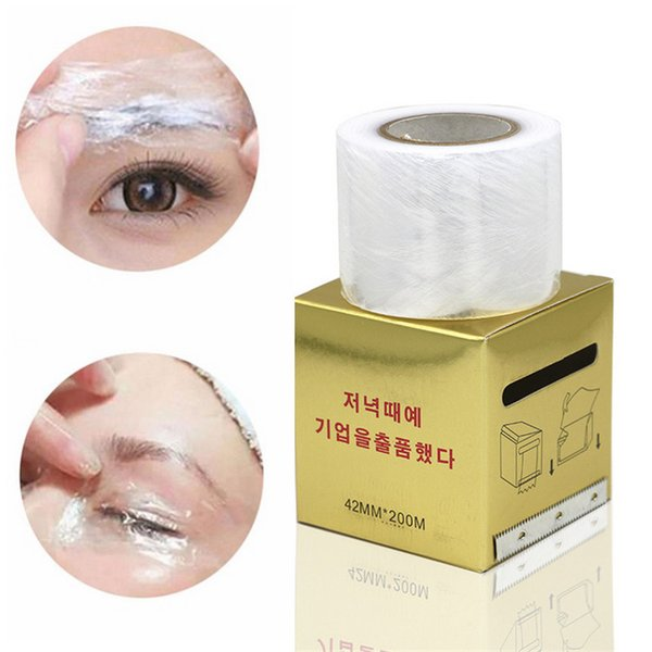 Disposable Microblading Plastic Wrap 42mm*200m Cling Film Permanent Makeup  Eyebrow Liner Tattoo Protect Accessories Transparent Cover Custom Tattoo