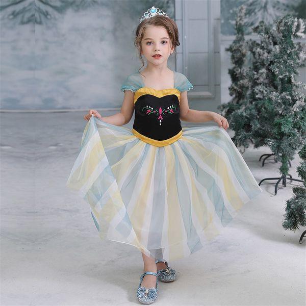 3-9 anos Anás vestido cosplay de manga curta traje da princesa meninas compõem saias crianças feriados ciranças partido prom boutiques dressup
