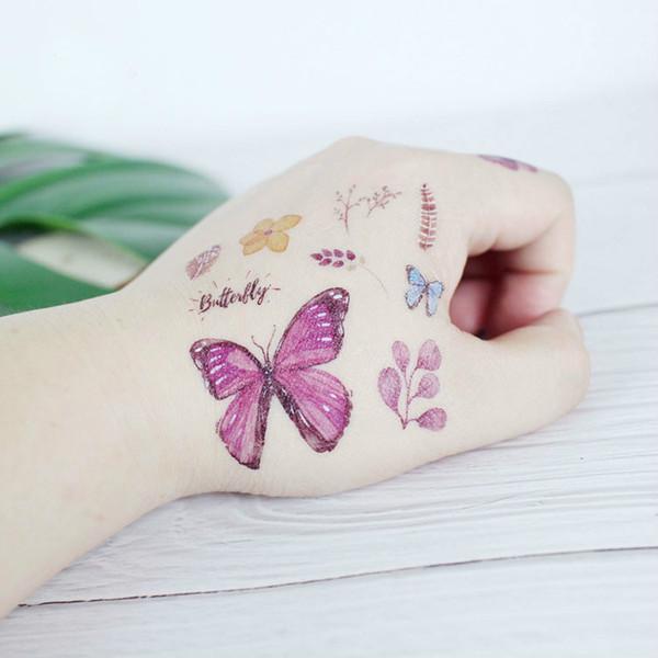 Бабочка Серии Татуировки Наклейки для Детей Милые Насекомые Смешные Временные Татуировки Водопередачи Body Arm Face Art Партия День Рождения Декор