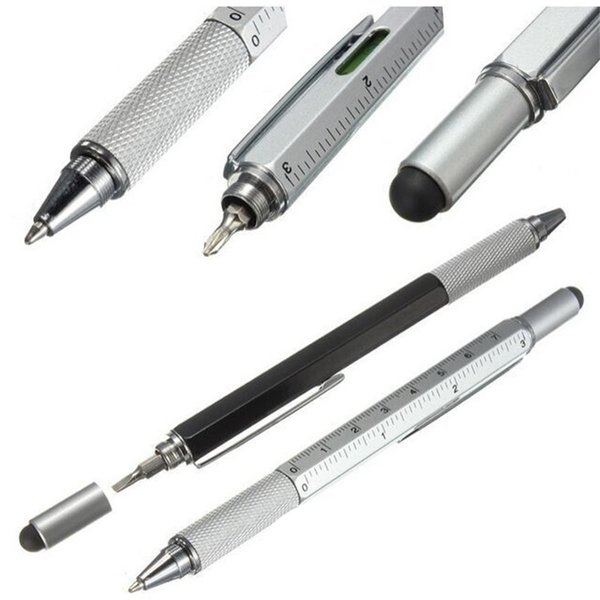 1pcs 6 color novel Multifunctional Screwdriver Ballpoint Pen Touch Screen Metal Gift Tool School office supplie stationery pen