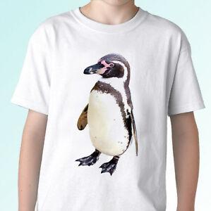 Pingouin blanc t animal tee top design mens enfants tailles bébé