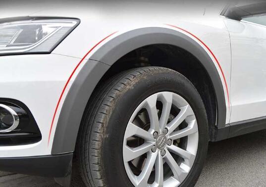 Haute qualité 10pcs 8.5cm large voiture Fender Flares Passage de roue sourcils décoration Bande garde couverture de protection trims Fit pour Audi Q5 2010-2018