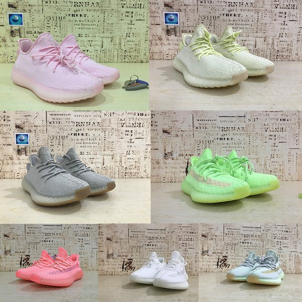 2019 YECHEIL Yeehu Hyperspace Static Butter 3M Reflective Mens Running Shoes Kanye West Tint Bred Women Trainers Sport Sneakers Size 3699a7#