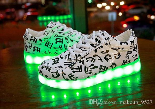 11 renk LED Ayakkabı USB Şarj light up Sneakers Düşük Yetişkinler Unisex LED Aydınlık Ayakkabı kadın erkek Rahat Ayakkabılar xmas hediye büyük size46