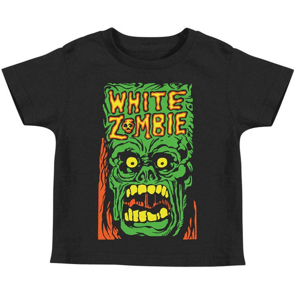 White Zombie Boys' Monster Yell Childrens T-shirt Black Rockabilia Mens 2018 fashion Brand T Shirt O-Neck 100%cotton T-Shirt