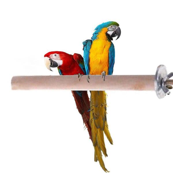 O papagaio de madeira cru do animal de estimação do carrinho do hamster do periquito do brinquedo do suporte empoleira-se para a gaiola de pássaro