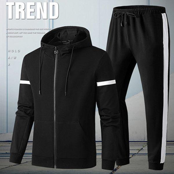 Erkek Kadın Tasarımcı Eşofman Kapşonlu Ceket Patchwork Saf Renk Marka Kitleri Spor Aktif Ceketler + Pantolon Takım Elbise Kıyafet Koşu CasualLJJ98312