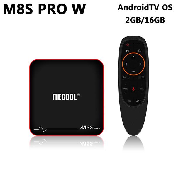 M8S PRO W Android 7.1 (Android TV) ТВ-бокс Amlogic S905W Quad Core 2 ГБ 16 ГБ 2,4 Г Wi-Fi 4K HD медиаплеер + ИК голосовой пульт дистанционного управления