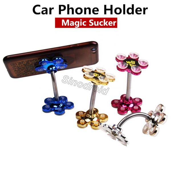 360 Magic Mobile Phone Holder Silicone Suction Cup Multi-function Car Holder Paste Vacuum Suction For Samsung Xiaomi Huawei All Smartphones