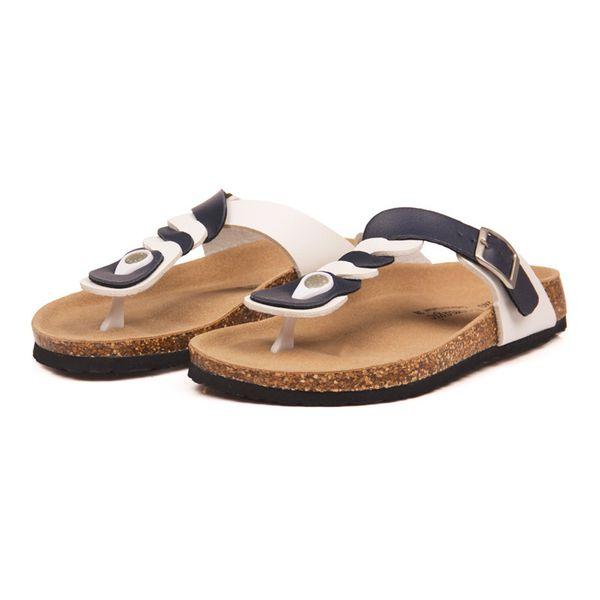 2019 Fashion Cork Flip Flops Slippers Flat with New Women Summer Beach Casual Buckle Patchwork Slides Slipper Shoe