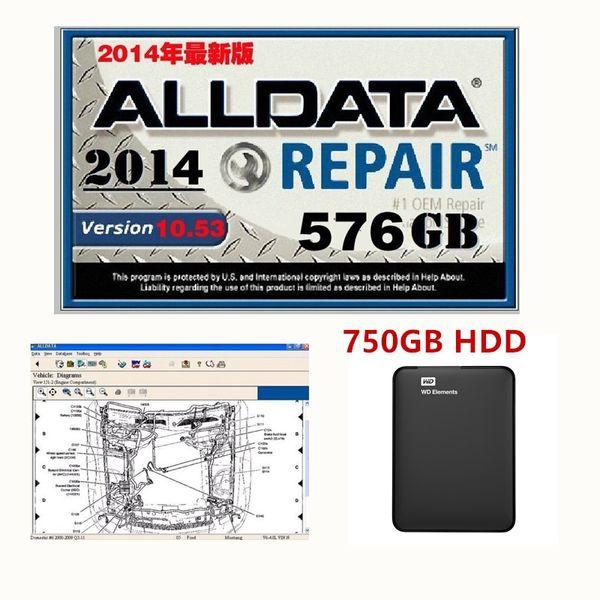 Heiße neue Ankunft 2019 alldata V10.53 Autoreparatursoftware und alle Datenautosoftware mit technischer Unterstützung für Autos und Lastwagen USB 3.0