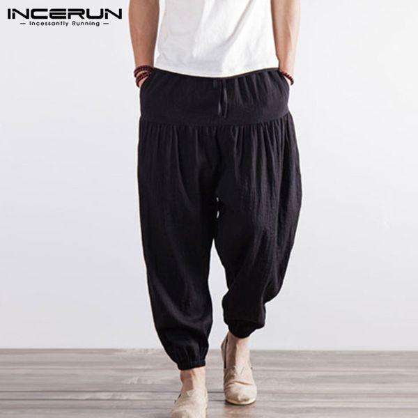 INCERUN Hiphop para hombre Pantalones de harén Pantalones anchos holgados Entrenamientos Joggers Danza Gimnasios Elastic Cuff Boho M-5XL Masculino