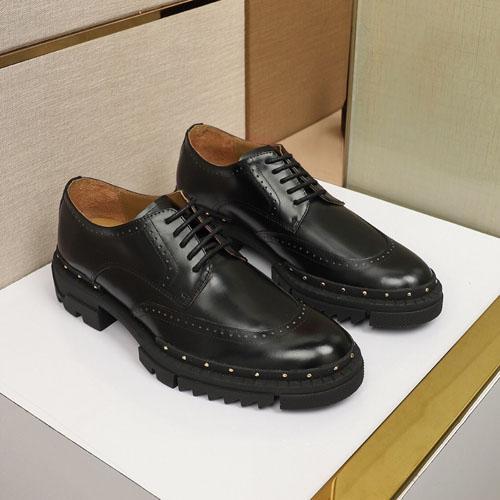Chaussures en cuir de concepteur Hommes chaussures de sport classiques nobles sélectionnés épaisse plate-forme en caoutchouc de peau de vache chaussures confortables et confortables Eu 38-45