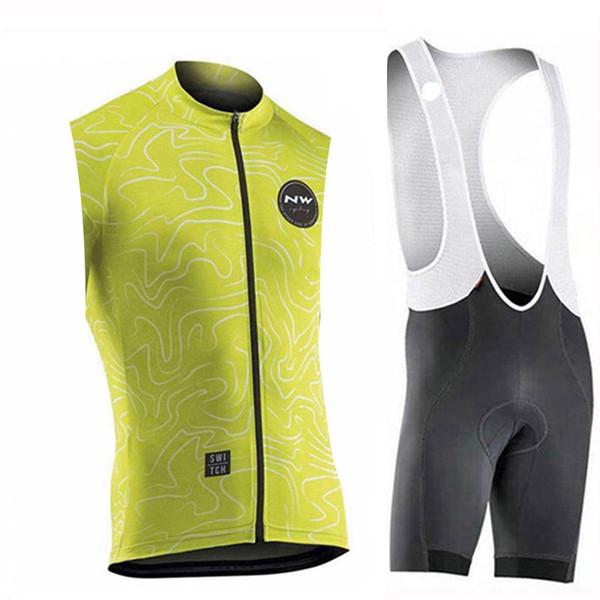 NW cyclisme maillot sans bretelles cuissard court de vélo ensemble de maillot de cycliste Ropa Ciclismo pro 9D gel pad été cyclisme Maillot wear