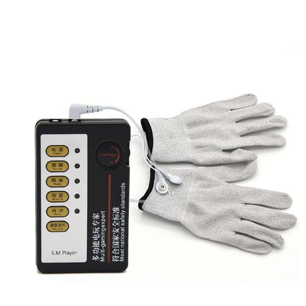 Il corpo del rilievo antidolorifico della decina dei guanti dell'elettrodo conduttivo si rilassa il riutilizzo del massaggiatore