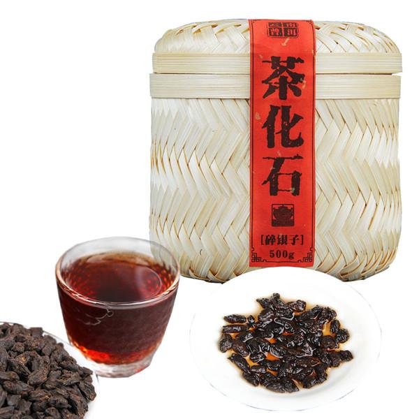 Preferred 500g Premium Приготовленный чай Pu'er Юньнань пуэр Ископаемые клейкий рис Ароматный ручной работы из бамбука корзины для подарков