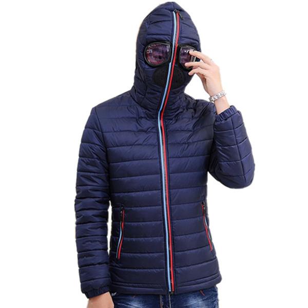 2019 мужские теплые Camperas дети ветрозащитная стеганая куртка зимние куртки мужские парки с очками ватник с капюшоном