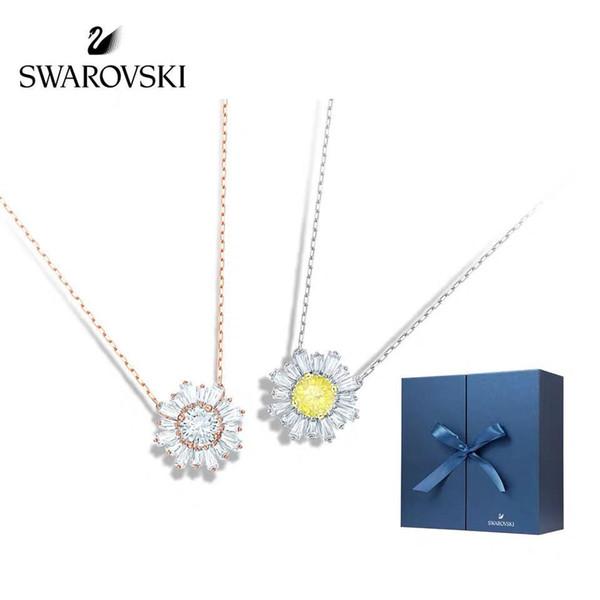 Designer Luxury Ornaments Simple silver Fashion jewelry Women's Copper Heart Love Collarbone Neck Chain Necklace Wholesale