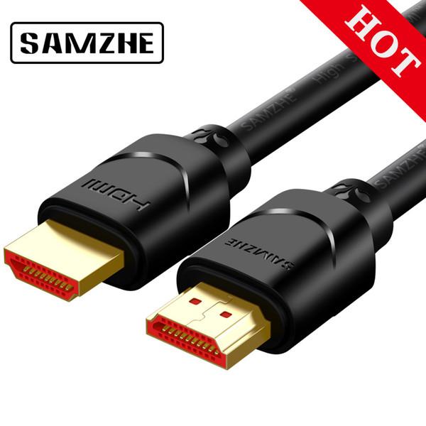 Toptan 4 K HDMI2.0 Kablo 1 m / 2 m / 3 m Rac HDMI 2.0 Ses Splitter Kablo TV için Mavi-Ray PS Roku PC Bilgisayar Projektör