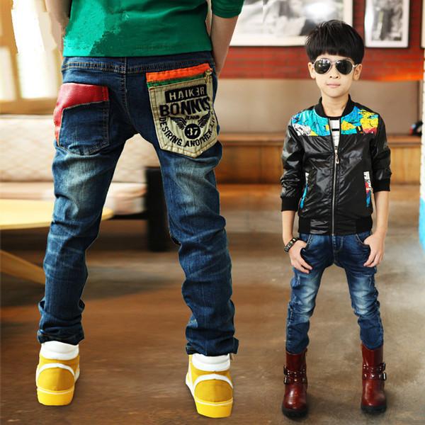 3-11y Fashion Boys Jeans Trousers Cowboys Autumn Kids Clothes Casual Baby Pants Toddler Casual Boy Denim Pants Children Clothing J190517