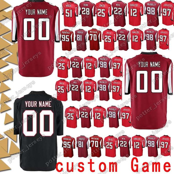 save off b7e47 e1f55 2019 Atlanta 26 Tevin Coleman Falcon Jerseys 45 Deion Jones 12 Mohamed Sanu  18 Taylor Gabriel 17 Devin Hester 84 Roddy White Custom Game Jersey From ...