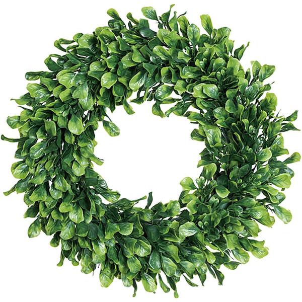 42cm / pz seta Garland Green Leaf Filo di ferro Fiore artificiale della vite Rattan Per Wedding decorazione dell'automobile fai da te Corona Fiori