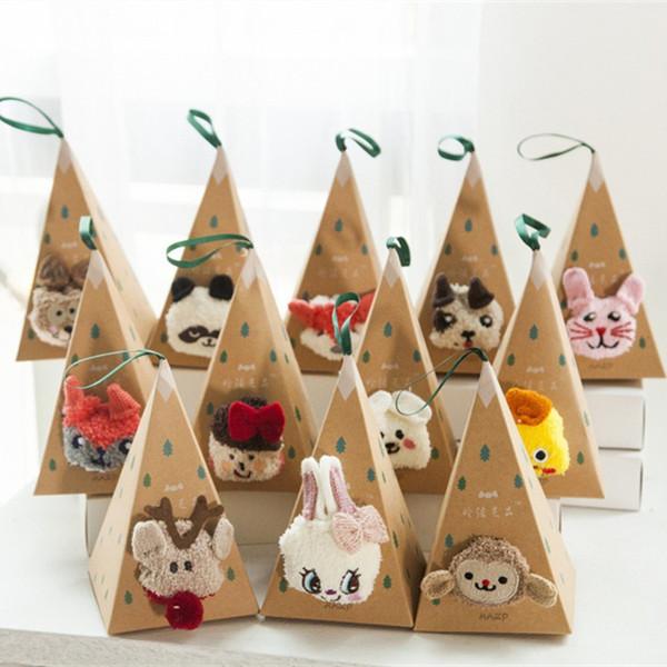 Erwachsene kinder Weihnachten rutschfeste boden Socken Korallen Samt Verdickung 3D Cartoon Stickerei Beliebte Hund Pfoten Weihnachtsstrümpfe Geschenktüte B535