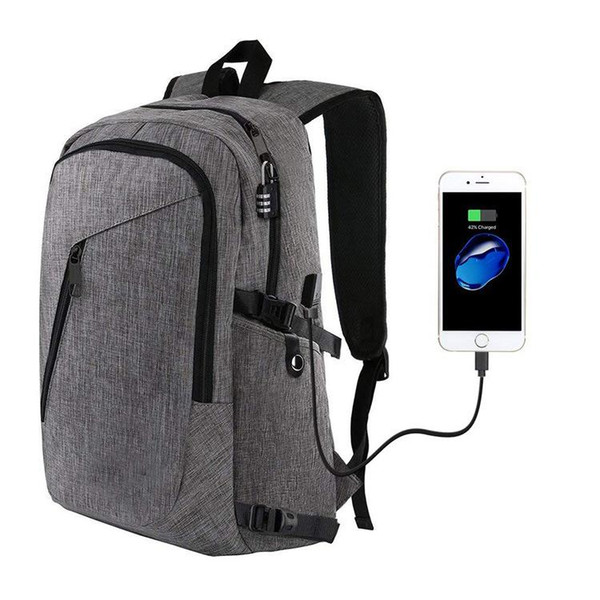 Laptop Backpack, Business Anti Theft Travel Computer Bag Slim Water Resistant College School Bookbag with USB Charging Port