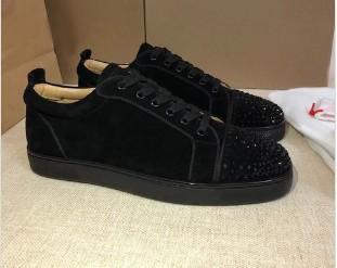 Sapatilhas do desenhista de corte baixo Spikes Flats sapatos de fundo vermelho para homens e mulheres de couro sapatos de designer Sneakers partido 35-46 mnj03