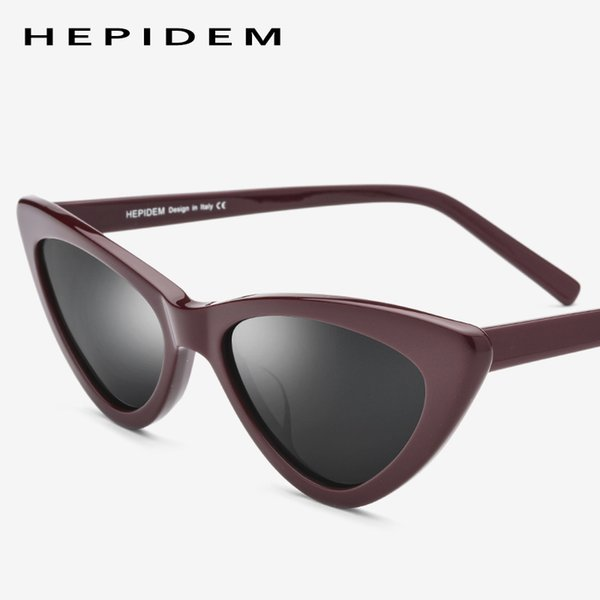 6a120cc921 Acetato gafas de sol polarizadas mujeres espejadas Cateye Ladies Sexy Corea  de alta calidad completo ojo