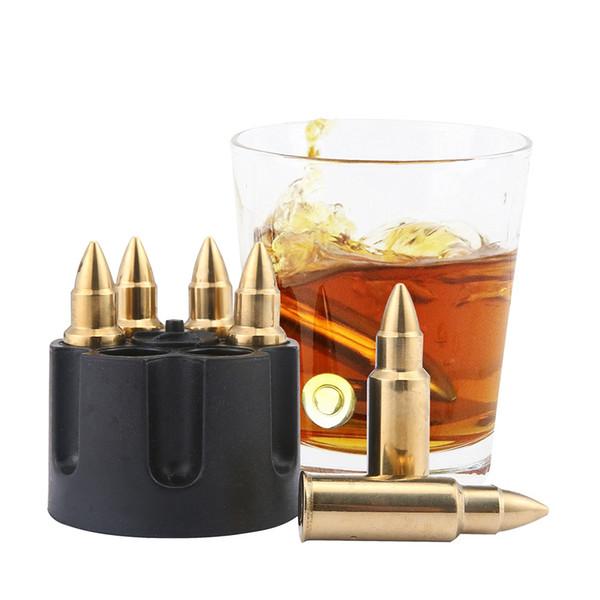 Creativo 304 Whisky Stones de acero inoxidable cubo de hielo cubo Magic Vodka Wine beer Cooler Bar KTV Whisky Holder herramienta Chiller