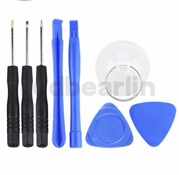 Handy Reparing Werkzeuge 8 in 1 Repair Pry Kit Öffnungswerkzeuge Pentalobe Torx Schlitzschraubendreher für iPhone 4 4S 5 5s 6 Handy