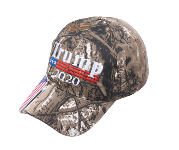 Nouveau Camouflage Donald Trump Chapeau Drapeau USA casquette de baseball Garder L'Amérique grand 2020 Chapeau 3D Broderie Star Lettre Camo réglable Snapback