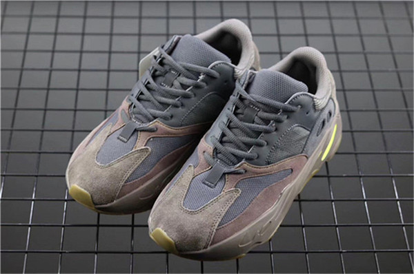 2019 Top 700 Kanye Ouest Mauve Wave Runner Violet 3M Sports EE9614 Baskets 700 V2 Statique Authentique Chaussures De Plein Air Taille 5-12
