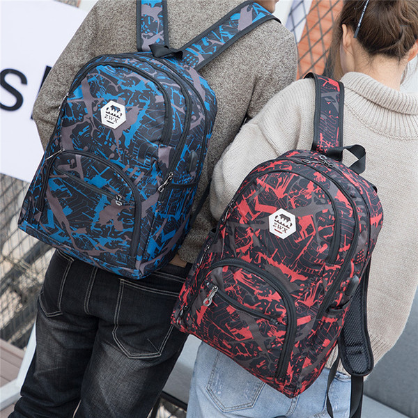 best selling Outdoor Bags Camouflage Travel Backpack Computer Bag Oxford Brake Chain Middle School Student Bag Many Colors