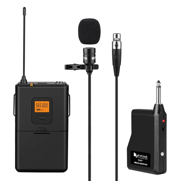 FIFINE M03 Wireless Lavalier Microphone Vocal Lapel Clip Mic Voice U-Segment Mini Mic For Teaching Speech