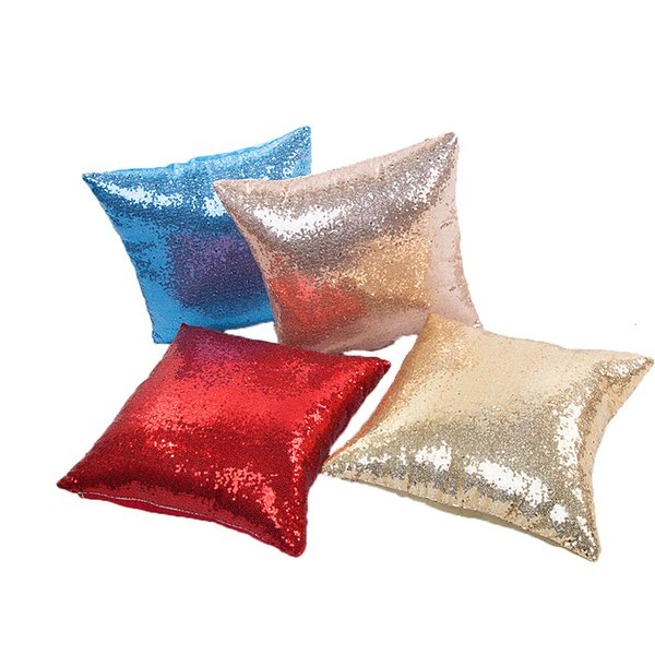 Sequins Solid Color Throw Pillow Case Candy Color Pillow Case Home Decorative Sequins Pillowcase Cover Kussensloop Poszewka