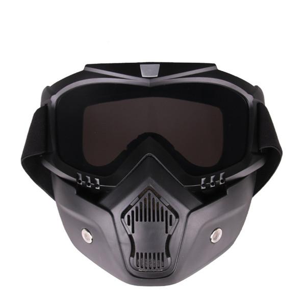 Gafas tácticas Gafas de motocicleta Tintadas Gafas de motocross Bicicleta de campo traviesa Máscara flexible A prueba de arena Transpirable Montar al aire libre
