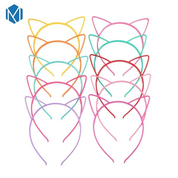 Lovely Children Candy Color Hair Band Resin Cosplay Cat Ears Girls Headband Hoop Hairbands Headwear Hair Accessories