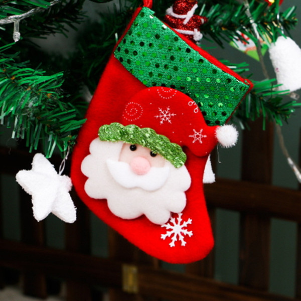 Christmas Stockings Gift Bags Decoration Ornament Decorative Candy Sock Santa Decor Christmas Tree Hanging Accessories Reindeer Eve