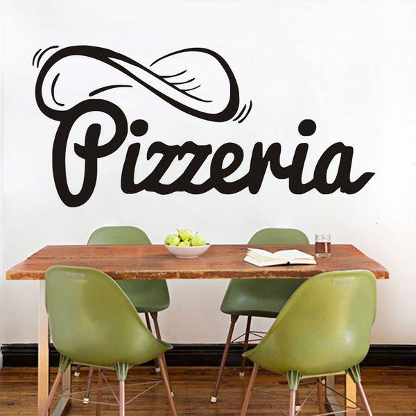 Acquista 1 Pz Adesivi Decorativi Da Parete Pizzeria Pizza Decorazioni La  Casa Creative Adesivo Vinile Adesivi Parete Rimovibile Cucina Adesivo Da ...
