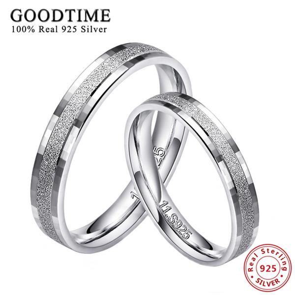 1 PCS 925 Anéis De Prata para Homens Mulheres 100% Real 925 Sterling Silver Top Qualidade Fosco Flocos Anel Casal Jóias Anel de Dedo
