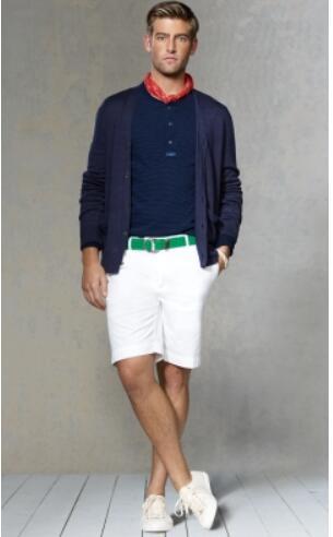 Outdoor Summer Men Solid Casual Shorts Fashion Boys Golf Short Pants Fashion American Beach Trunks White Navy Blue Black Khaki