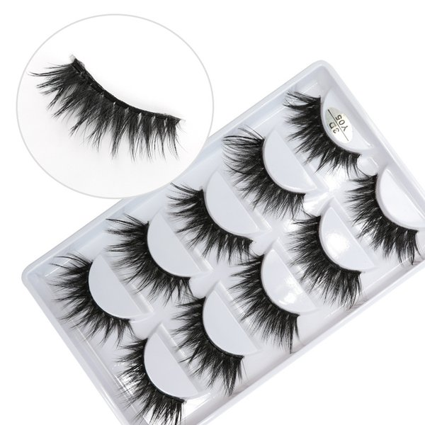 3D-Y05 5pairs/set Y series transparent terrier False EyeLashes 5 Pairs 3D Natural soft silk Eyelashes Handmade eyelashes